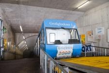 Горное метро - первая очередь подъема на ледник Мелльталер.