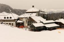 Насфельд. Поселиться можно на горе в Шланитцер Альме (Schlanitzer Alm), на 1380 м, у подъемника.