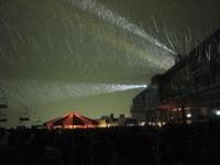 Серфаус. Лазерное шоу на горе.
