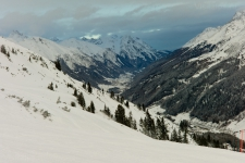 Санкт Антон и долина Stanzer Tal.