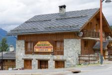 Ресторан 'Тайга' стоит на дороге из Ле Праца в Куршевель 1550.